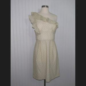 Antonio Melani Ruffle One Shoulder Dress